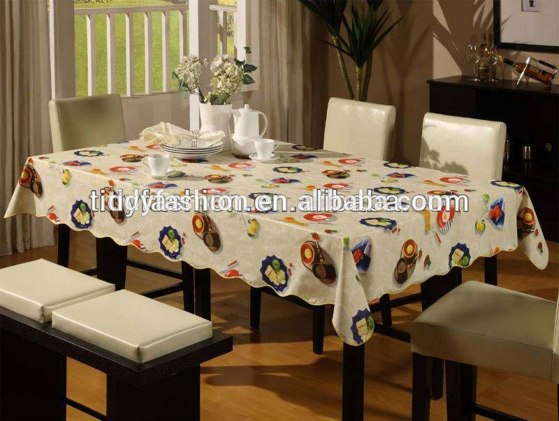 Custom Wholesale Restaurant PVC Plastic Tablecloth