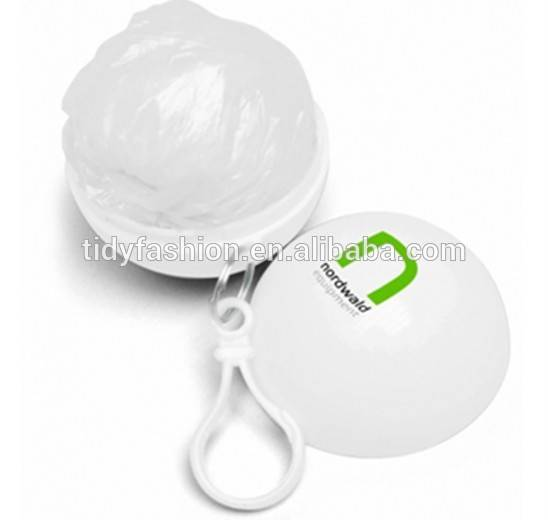 Keychain Ball Disposable Plastic Rain Poncho Raincoat