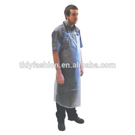 Printing Waterproof Clear Plastic Kitchen Apron