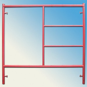 SGS/ANSI/CE Ceritified High Quality Building Material/ The Interior Decoration Fast Lock Ladder Frame Scaffold For Sale