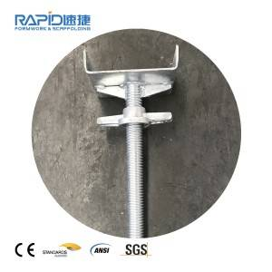 Adjustable Scaffold U Head Screw Base Jack for Construction Shore Prop