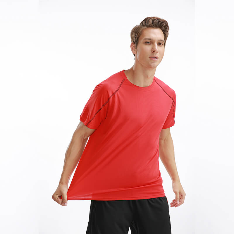 In Stock Sports t-shirt Blank Running Quick Dry Men T Shirt for Marathon Featured Image