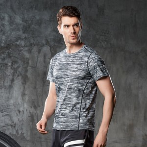 Fashion Breathable Sports Short Sleeve Unisex quick dry t-shirt printing polyester spandex tshirt