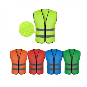 visibility security safety vest reflective strips work wear