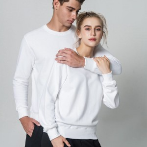Unisex O-Neck Hoodies Tops Pullover Fashion Basic Sweatshirt Fleece Hoodie Blank Men's Hoodies
