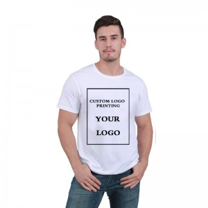 Best selling custom logo printing 100% cotton blank white t shirt