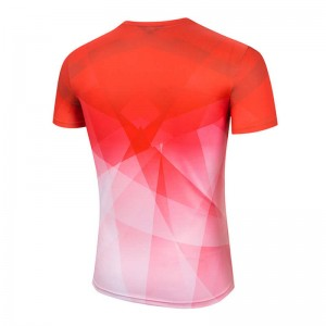 Wholesale quick dry polyester shirts for marathon advertising and election campaign customized sublimation t-shirt