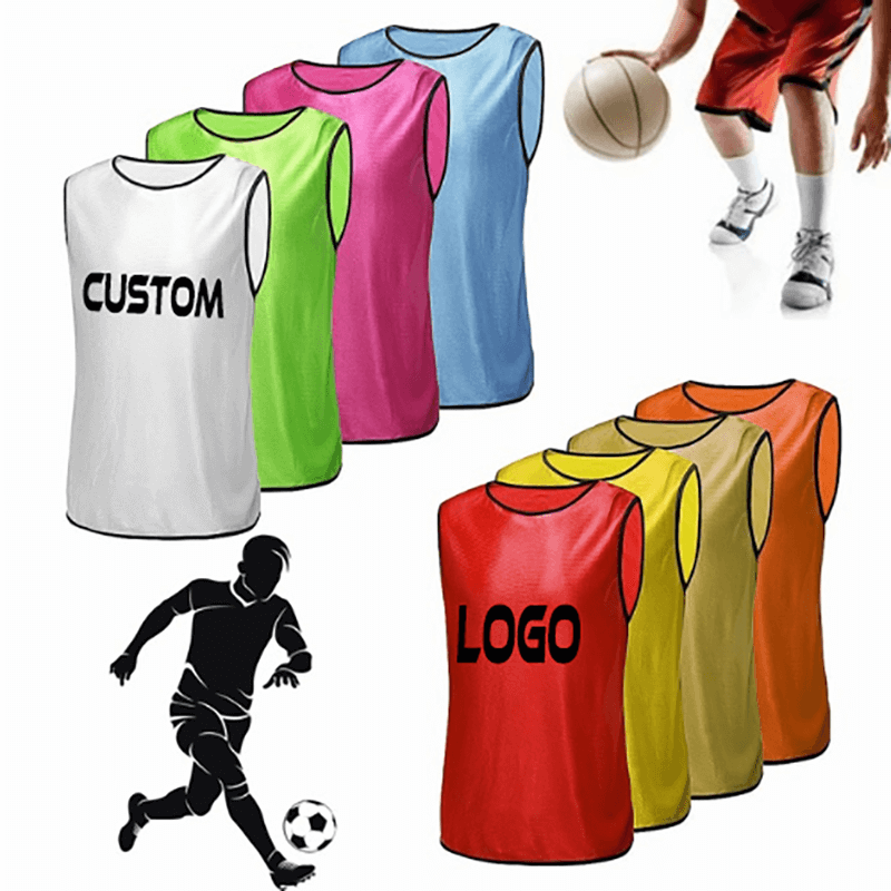 Adult – Teens Scrimmage Practise Jerseys Team Pinnies Sports Vest Soccer, Football, Basketball bibs Featured Image