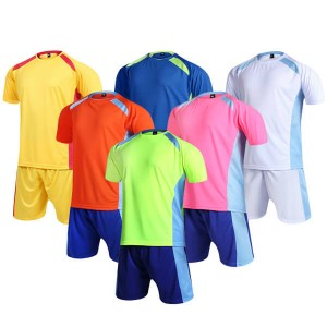 Best quality wholesale sports sublimation team custom football uniform soccer jersey set soccer wear
