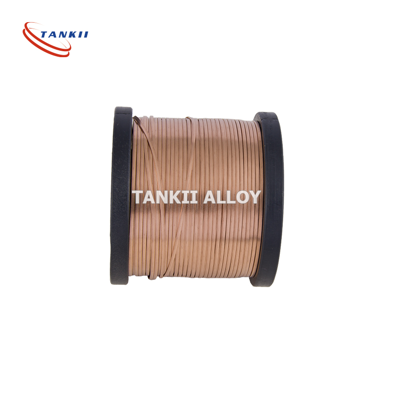 Enameled Bare Wire Copper-Manganese Alloy Manganin Resistance Ribbon / Flat Wire