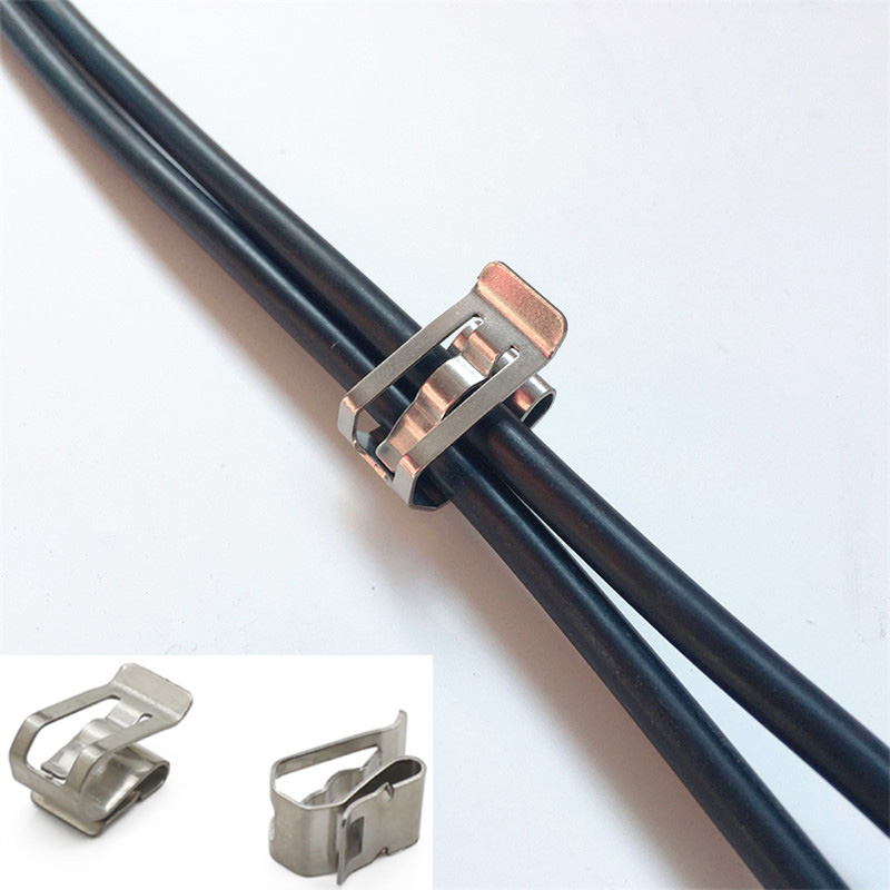 2way SUS Wire Clamp Solar Cable Clip