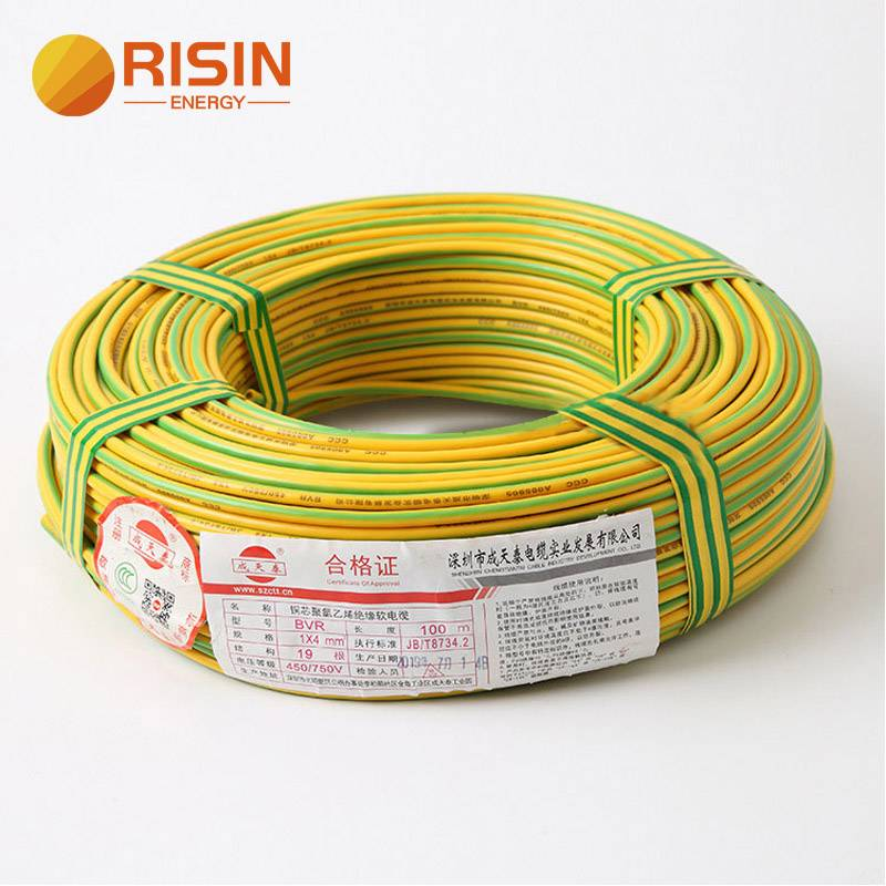 PVC Yellow Green Solar Earth Ground Cable