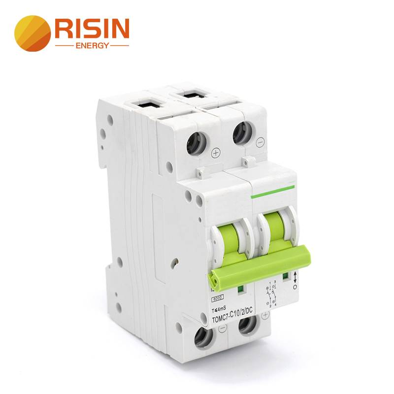 Solar PV Circuit Breaker DC1000V DC550V DC800V DC MCB 6A to 63A Featured Image