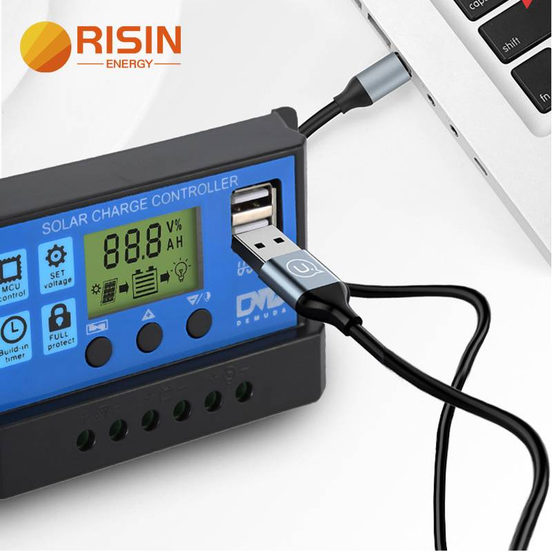 10A 20A 30A 12V 24V Intelligent PWM Solar Charge Controller