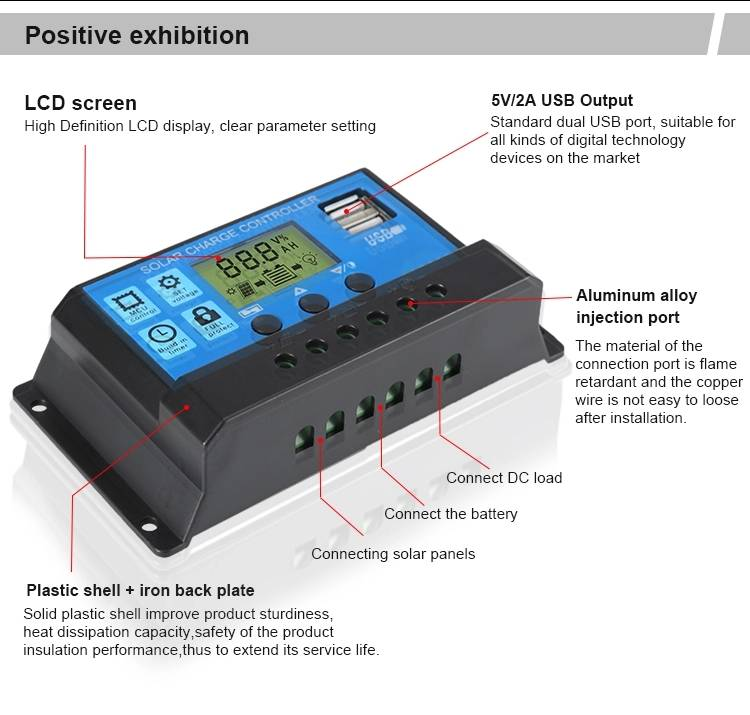 PWM solar charge controller 3