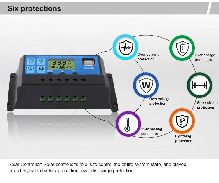 PWM solar charge controller 4