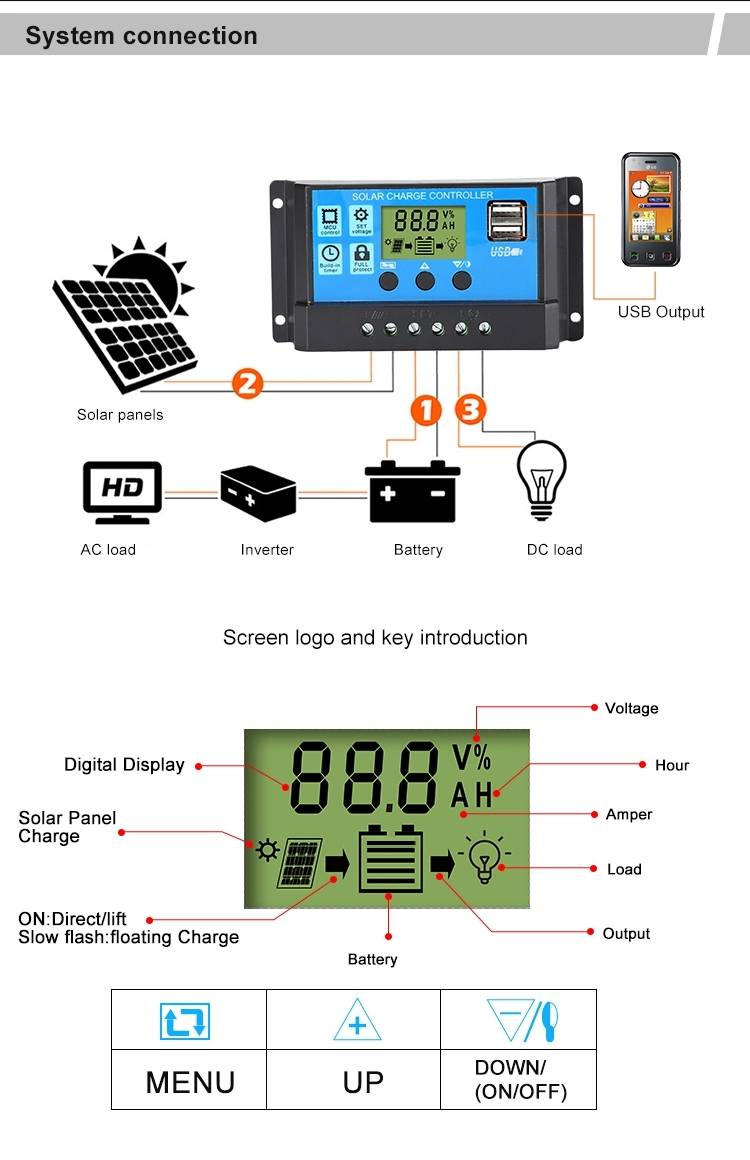 PWM solar charge controller 8