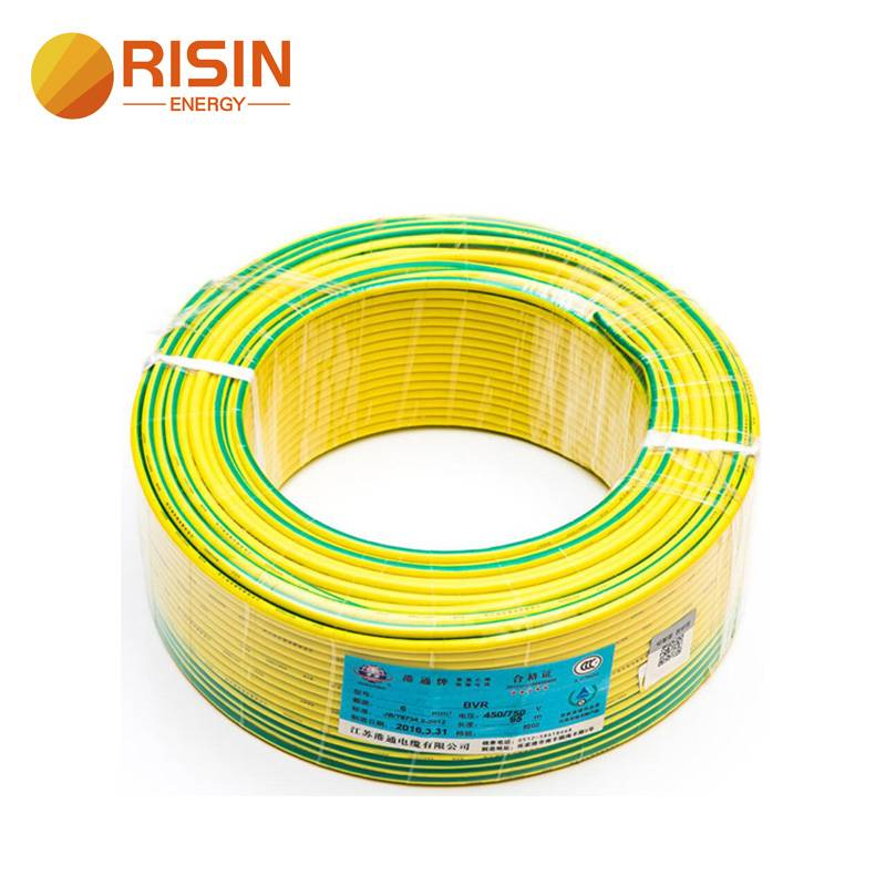Yellow Green Wire 4mm 6mm Copper Solar Grounding Earth Cable