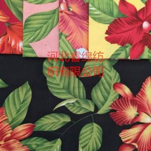35% cotton 65% polyester printed fabric