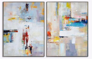 2 panel easy abstract painting canvas art #RG20226