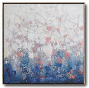 Contemporary Oil Painting, White Abstract Art #RG20238