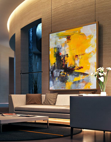 modern abstract contemporary oil painting, extra large handmade wall art painting