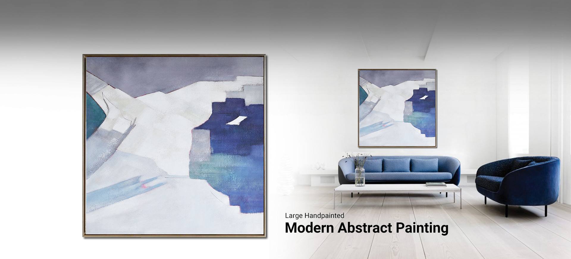 large hand painted modern abstract painting