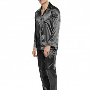 China 100% cotton mens long-sleeved pajamas