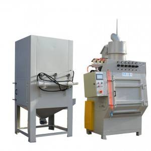 Automatic tracked type sand blasting machine
