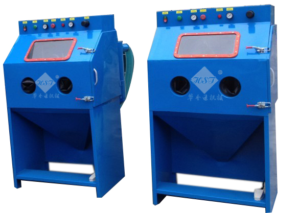 Suction dry sandblast cabinet