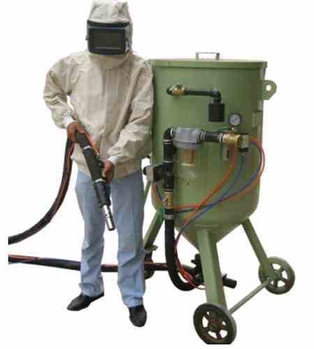 Portable Abrasive Deadman Control Sandblasting machinery 300L