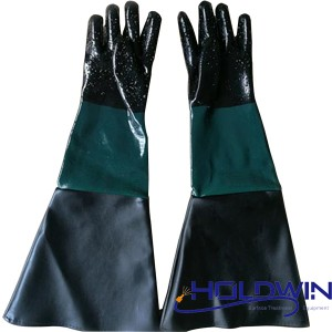 Sandblasting gloves rubber gloves industrial gloves 60cm