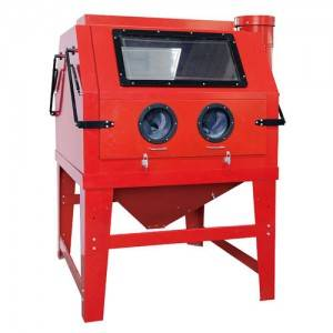 HST-SBC1200 CABINET SANDBLASTER WITH PARALLELED WORKING POSI