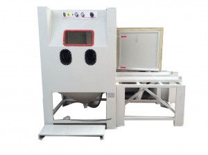 Suction type dry Sand Blasting machine with Turntable