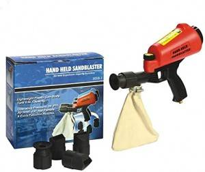 Sandblast Gun Kit Small Hand held Sand blaste Portable Pneumatic