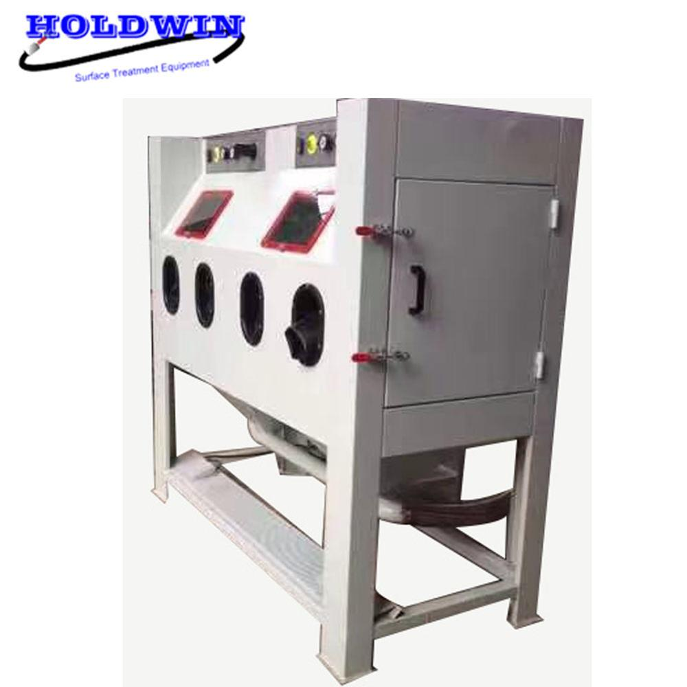 Holdwin Double Work Station Sandblasting Cabinet Manual Sandblaster Equipment Rust Remove Sandblast Machine