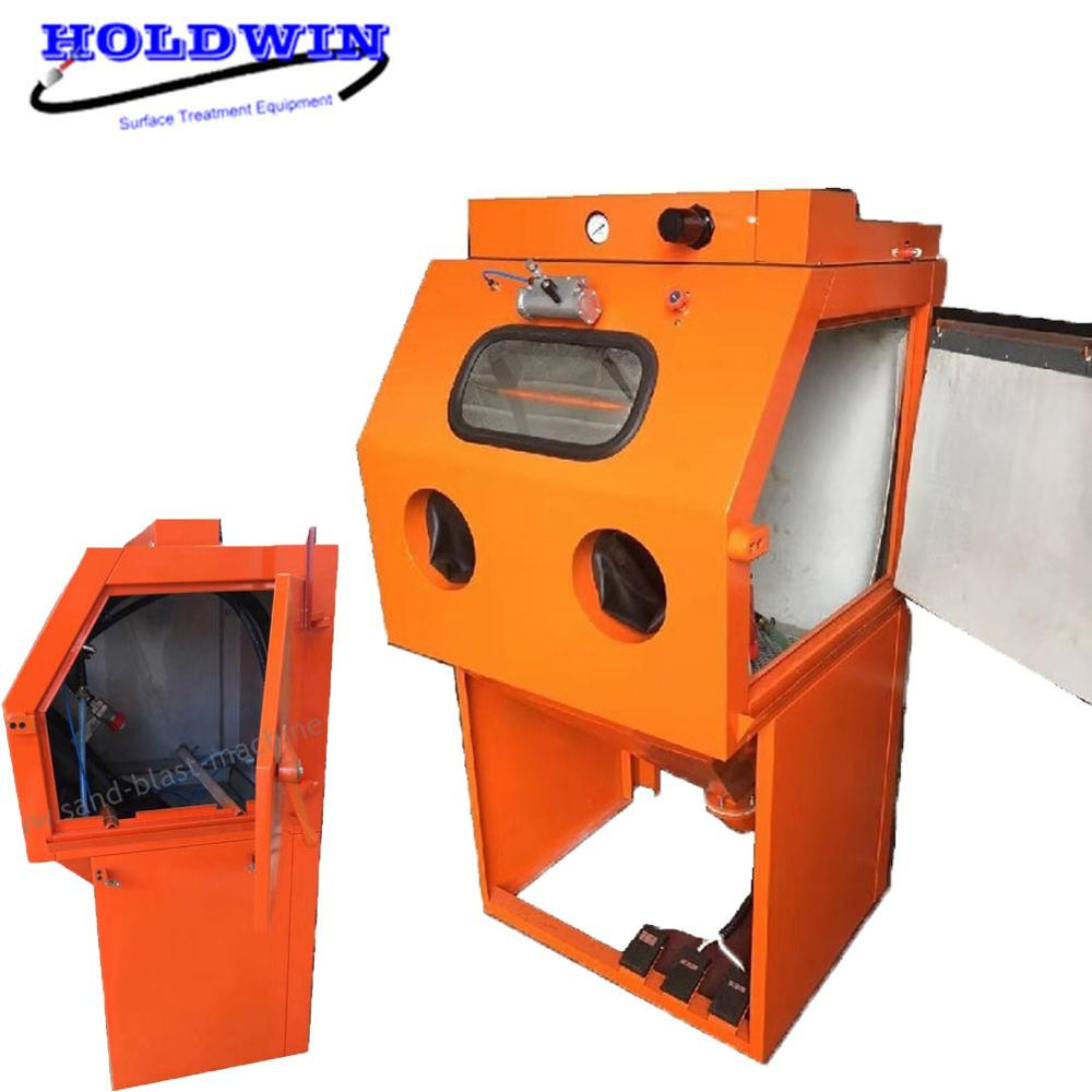 CE Water Sandblasting Machine Blaster Dustless Turntable Sandblaster Equipment Wet Sandblasting Cabinet Featured Image