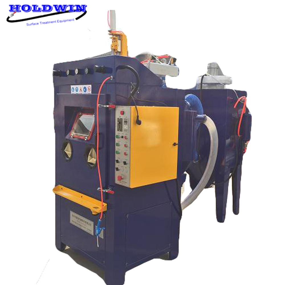 Holdwin Automatic Sandblaster Cabinet Drum Sandblasting Machine Increase adhesion Pre-painting Surface treatment Featured Image