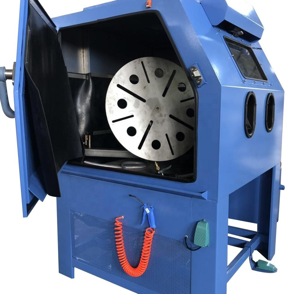 Holdwin High quality wheel sandblasting machine water blasting machine for wheels sandblaster manufacture