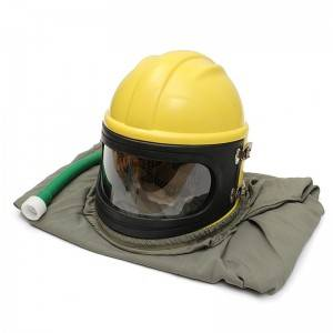 Whole set sand blasting helmet with air hose,air breathing filter,temperature regulator