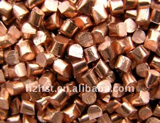 Copper shot blasting media