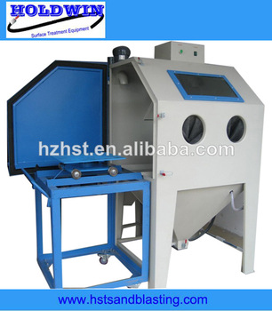 dry box-type turntable sandblasting machine