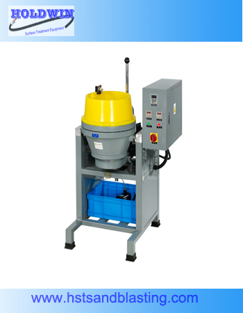 Flow polishing machine for metal