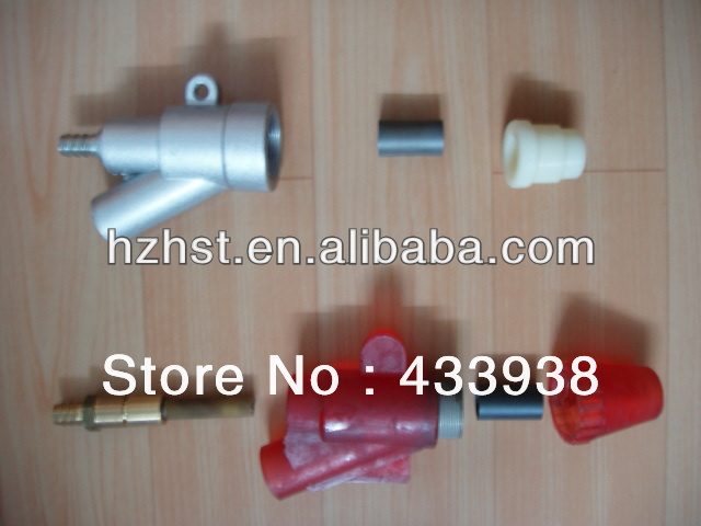 Sandblast gun with boron nozzle for suction sandblast machine