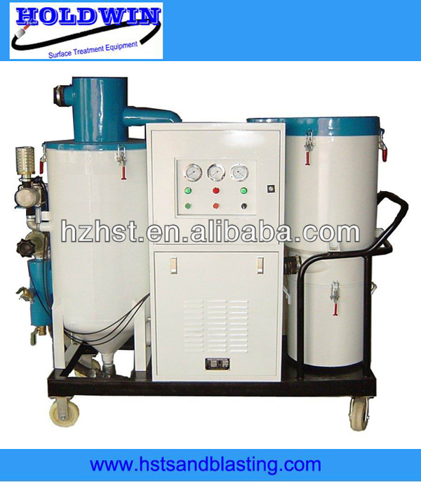 Automatic recycle free pollution sandblasting machinery