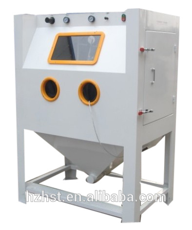Dry type abrasive Sandblaster cabinet for blasting wheel with dust collector