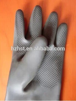 60CM Long Black rubber gloves for sand blasting