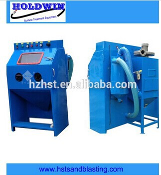 Suction glass beads blasting machine