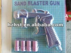 Sandblast gun with nozzle