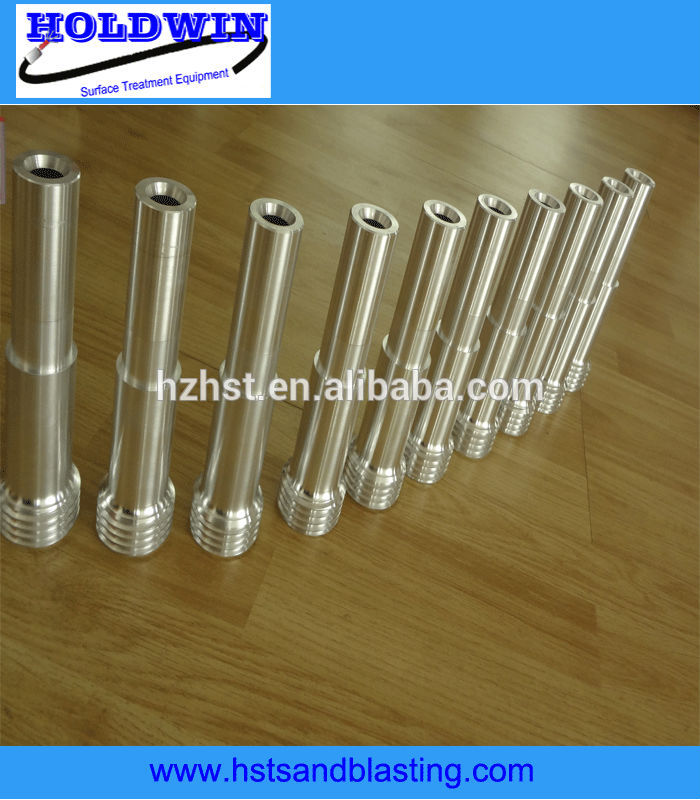 single venturi sand blast nozzles coarse thread using